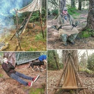 bushcraft camp chair camp furniture  tripod three poles with a seating bar bipod two poles with a seating bar hung between two trees like a hammock     bushcraft camp chair  u2013 the hidden woodsmen  rh   thehiddenwoodsmen